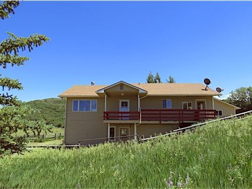 Home on Acreage In The Mountains : Collbran : Mesa County : Colorado