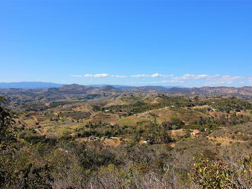 Scenic 8.13 Acre Fallbrook Property : Fallbrook : San Diego County : California