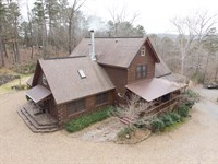Ozark Mountain Custom Log Home : Shirley : Van Buren County : Arkansas