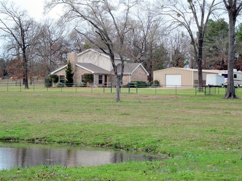 12 East Texas Acres, Large Home : Quitman : Wood County : Texas