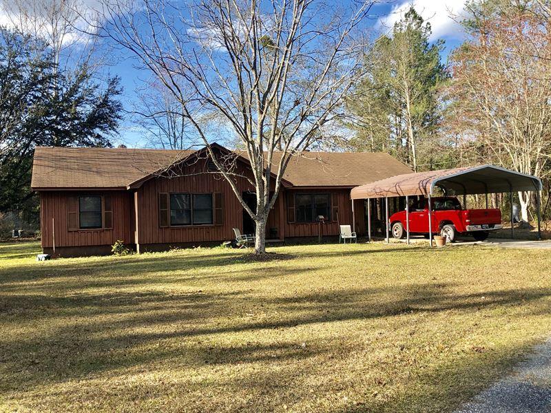 Rustic Home On 5+ Acres : Jesup : Wayne County : Georgia