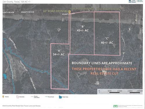 Recreational,Timber Tract Rusk : Laneville : Rusk County : Texas