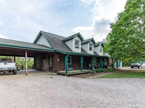 Custom Log Home And Shop on 160 Ac : Piedmont : Wayne County : Missouri