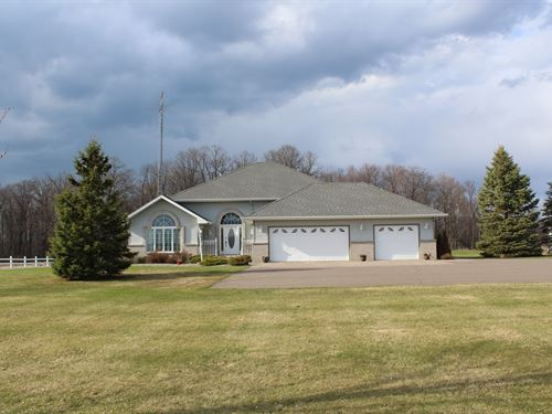 4Br/4Ba Country Home 35 Acres : Onamia : Mille Lacs County : Minnesota