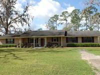 3/2 On 7.8 Acres : Starke : Bradford County : Florida