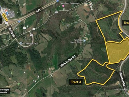 52.7 Ac, Great Recreational : Sparta : Gallatin County : Kentucky