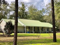 3/2 Country Home 12.68 Acre Pine : Bell : Gilchrist County : Florida