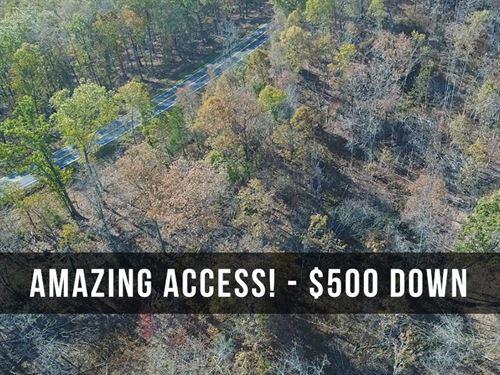 18 Acres, Paved Frontage & Views : Drury : Douglas County : Missouri