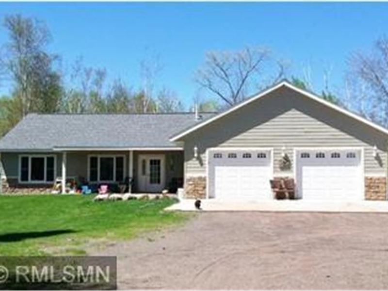 Country Home, Wooded Acreage : Finlayson : Pine County : Minnesota