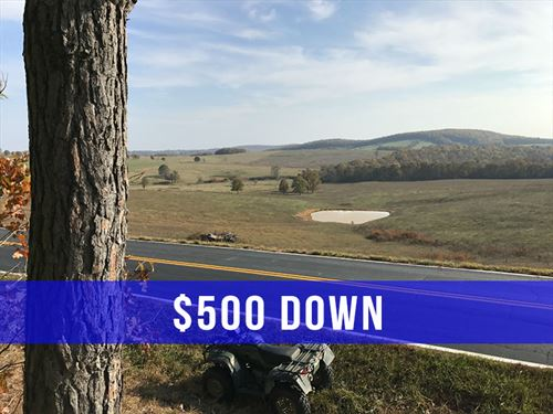 18 Acres, Paved Frontage & Trees : Drury : Douglas County : Missouri