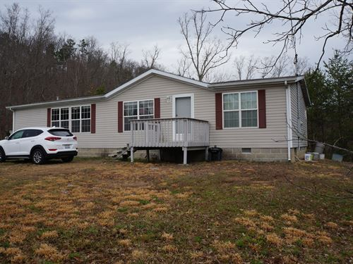 18.72 Wooded Acres 3 Br, 2 BA Home : Rutledge : Grainger County : Tennessee