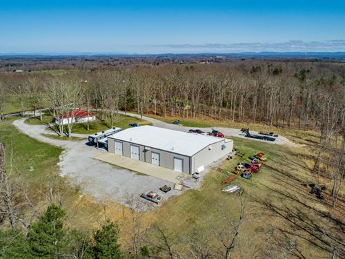 5+ Ac, Pro Auto Shop / Remodeled Hm : Crossville : Cumberland County : Tennessee