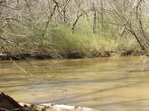 55.73 Acre River Front Mini Farm : Woodruff : Spartanburg County : South Carolina