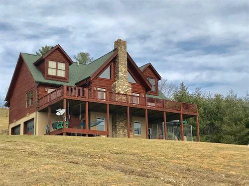 Log Cabin Home in Pilot VA : Pilot : Floyd County : Virginia