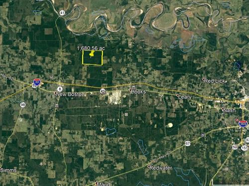 1680 Acres Timber Hunting : New Boston : Bowie County : Texas