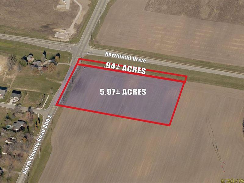 6.91+/- Acres Of Commercial Land : Avon : Hendricks County : Indiana