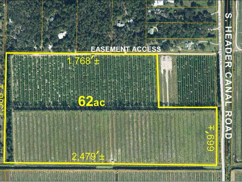 62 Acre Agricultural Tract : Farm for Sale : Port St Lucie : Saint Lucie  County : Florida