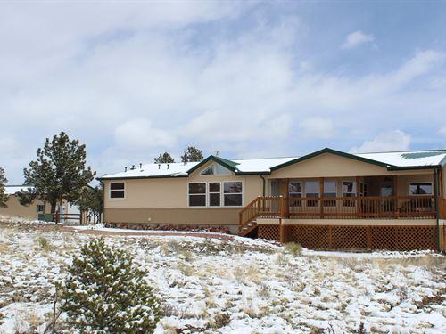 Mountain Home 30'X50' Shop 5+ Acres : Westcliffe : Custer County : Colorado