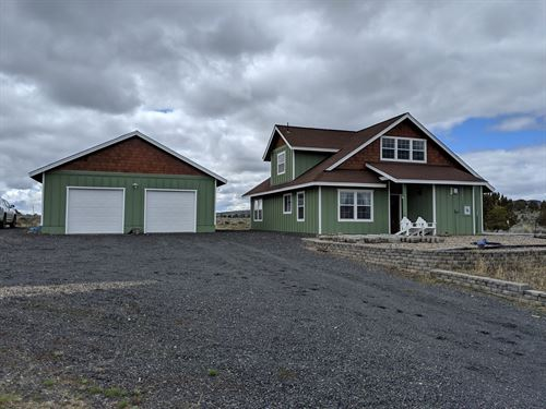 Beautiful Custom Home 10+ Acres : Burns : Harney County : Oregon