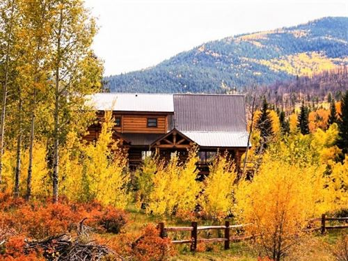 Creekside Log Cabin : South Fork : Rio Grande County : Colorado