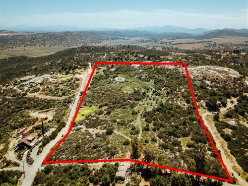 Scenic Valley Center Acreage : Valley Center : San Diego County : California