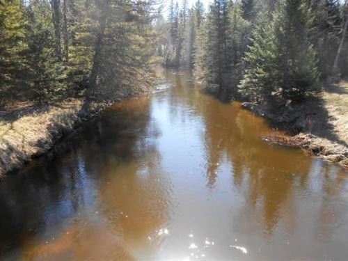 Thunder Bay River 9 Acres Fishing : Atlanta : Montmorency County : Michigan