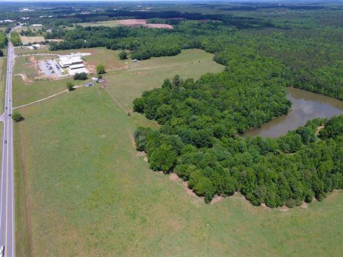 Cattle Farm With Pond : Madison : Morgan County : Georgia