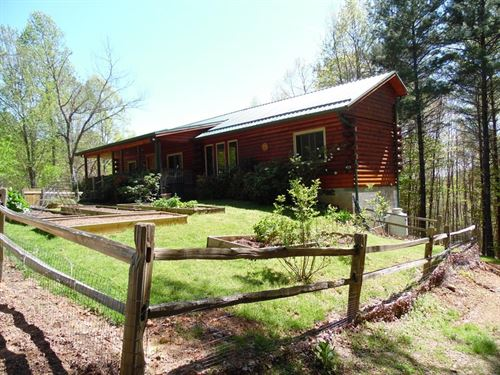 Exceptional Quality Log Cabin Blue : Galax : Carroll County : Virginia