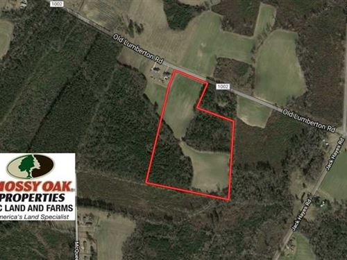 25.5 Acres of Farm And Hunting Lan : Whiteville : Columbus County : North Carolina