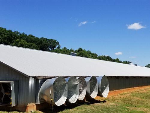 2 House Broiler Farm 40'X500' : Lula : Hall County : Georgia