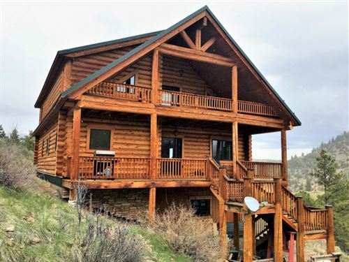 Log Home With Epic Views : South Fork : Rio Grande County : Colorado
