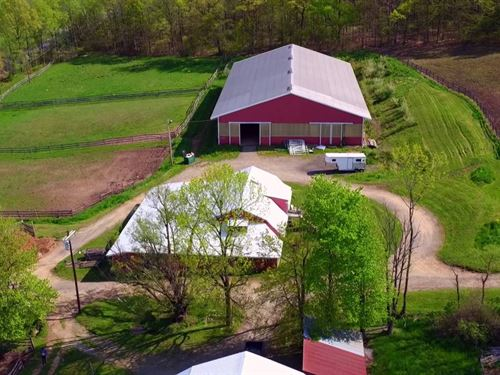 48+Ac Horse Farm Beautiful Setting : Oxford : Warren County : New Jersey