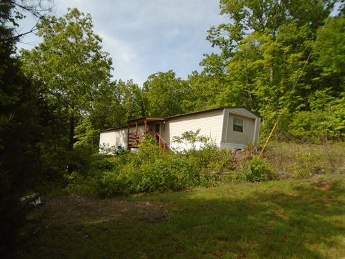 Mobile Home 14 Mostly Wooded Acres : Annapolis : Iron County : Missouri
