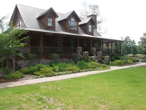 Unique Custom Built Home And Farm : Gallion : Marengo County : Alabama