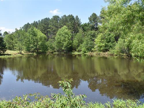 Recreational Hunting / Fishing Land : Elberton : Elbert County : Georgia