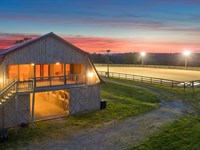 Equestrian Opportunity, Luxury Barn : Sale Creek : Bledsoe County : Tennessee
