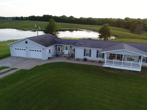 Mo Farmette, Country Home, Lake : Arbela : Scotland County : Missouri