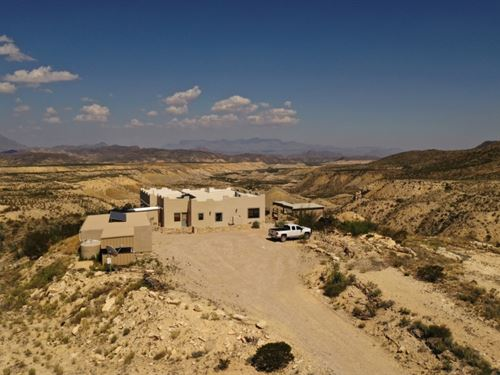 Custom Off Grid Home On Scenic 120 : Terlingua : Brewster County : Texas