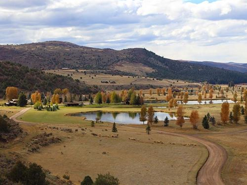Bench View At Elk Creek Ranch : Meeker : Rio Blanco County : Colorado