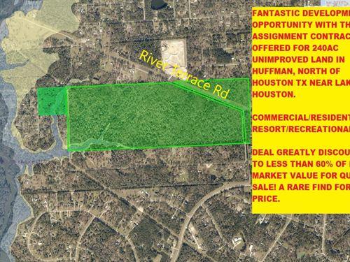 240 Acs Land Greatly Discounted Tx : Huffman : Harris County : Texas