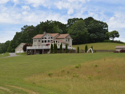Beautiful Home 73.6 Acres Stuart : Stuart : Patrick County : Virginia