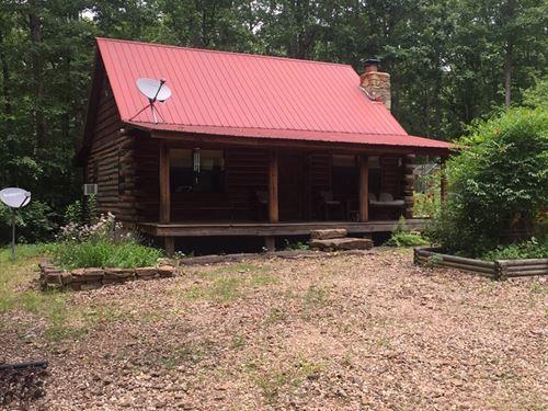 Arkansas Log Cabin On 20 Acres : Marshall : Searcy County : Arkansas