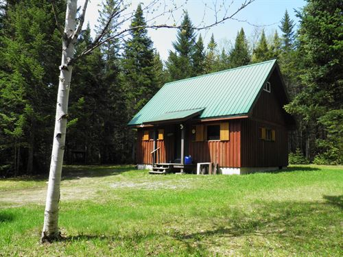 Newly Constructed Recreational Camp : Mount Chase : Aroostook County : Maine