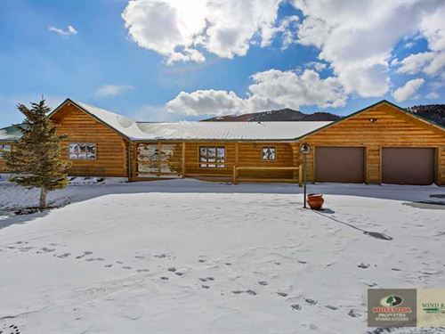 Custom Hand-Crafted Log Home On LA : Dubois : Fremont County : Wyoming
