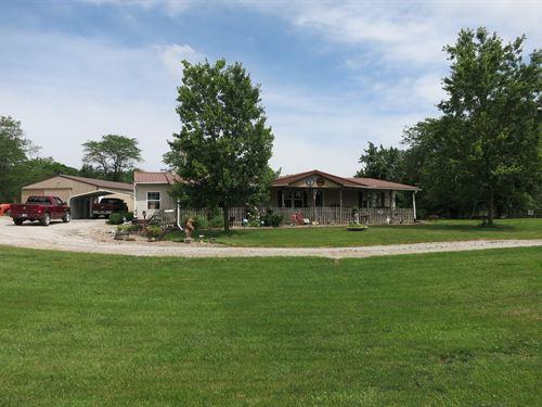 Ranch Home in Rural Bethany MO : Bethany : Harrison County : Missouri