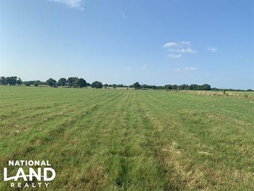 11.5 ac Improved Hay Pasture Near : Eustace : Henderson County : Texas