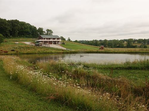 Beautiful Farm With Ponds And Views : Hartville : Wright County : Missouri