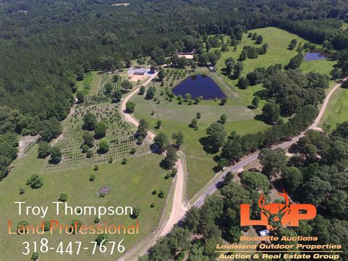 76.39 Acres And Country Home : Pollock : Grant Parish : Louisiana