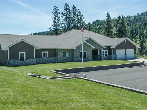 Perfect Mt, Idaho View Country Home : Grangeville : Idaho County : Idaho