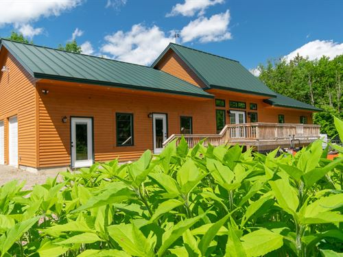 Passive Solar Home, Maine Real : Springfield : Penobscot County : Maine